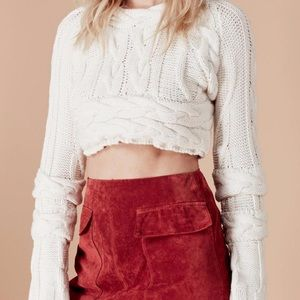 For Love and Lemons Greenwich Crop Sweater